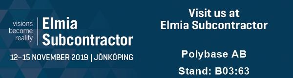 Elmia Subcontractor 12-15 November